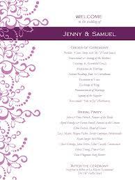 Wedding Reception Templates Free Wedding Program Templates Free Weddingclipart Com