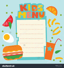 Party Menu Template Collection Free Printable Kids Menu Template Pictures
