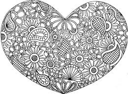 Small Picture Abstract Heart Coloring Pages Difficult Abstract For Teenagers