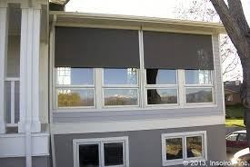 exterior window shades. Fine Window Oasis 2900 Exterior Sun Shade Partially Retracted And Window Shades W