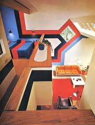 1970s interior design. 1970s Interior Design 11 Really Dig The Fact That Wall Graphic Coordinates With Bedspread