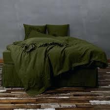linen duvet cover green olive covers nz basic
