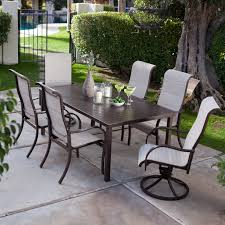 f contemporary black finish wrought iron dining table set ideas for frontyard with charming white woven dining chairs using high backrest 3200x3200 charming high dining