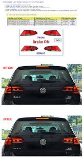 support vw golf mk 7 led tailights how to add brake function to inner lights coding instructions