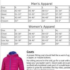 Gerry Size Chart Mens Gerry Outdoor Snow Pants Nwt