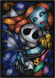 Glass Painting Designs For Wall Hanging Pdf Disney Jack And Sally Nightmare Before Christmas Stained