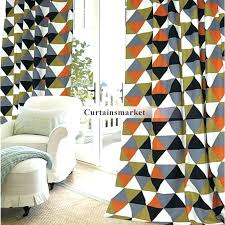Geometric Pattern Curtains Cool Geometric Pattern Curtains Window Curtain Summer Style Collocation