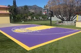 custom basketball court