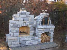 The Grunick Family Outdoor Brick Pizza Oven & Outdoor Fireplace in Missouri