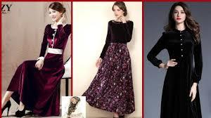 Pink Velvet Suit Design Stylish Velvet Kurti Dresses Design For Winter Season Velvet