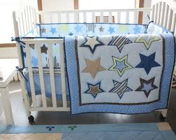 Promotion! 4pcs embroidered Baby Crib Bedding Kit Bed Around Baby ... & Cheap bedding set for babies, Buy Quality bedding set baby directly from  China bedding set wholesale Suppliers: Blue Star Baby Cot Crib Bedding set  for boys ... Adamdwight.com
