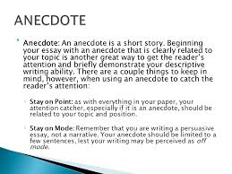 ms dolen s th grade language arts iuml frac indent indent indent 9 iuml129frac12anecdote an anecdote is a short story beginning your essay