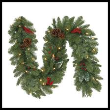 Battery Operated Lighted Garland 6 Ft Artificial Fir Christmas Garland Prelit Battery Operated 35 Led Clear Light