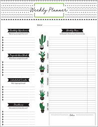 Monthly And Weekly Planners Printable Planner Designs From Xerox