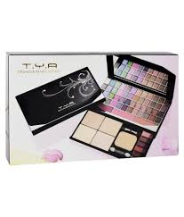 tya laptop fashion makeup kit with 48 color eye shadow pact blusher etc 590