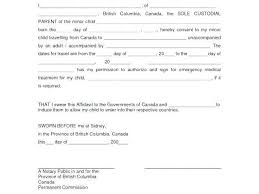 Letter Of Consent For Travel Of A Minor Child Template