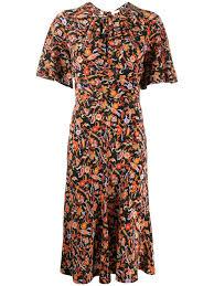 Derek Lam 10 Crosby Short Sleeve Paisley Print Midi Dress
