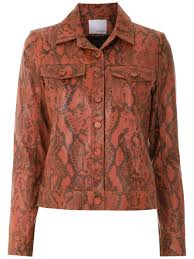 nk collection nk animal print leather jacket brown goxip