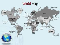 World Map Power Point World Map Without Labels Inspirational World Map Powerpoint Template