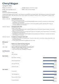 Caregiver Resume Sample And Complete Guide 20 Examples