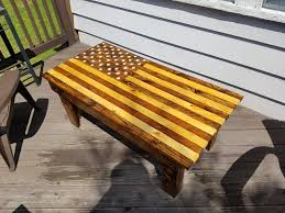 picture of american flag pallet coffee table