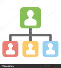 Organization Chart Vector Organizational Chart Vector Icon Stock Vector