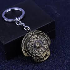 new arrival dota 2 immortal champion shield key chain dota2