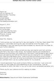 Cover Letter For Childcare Child Care Cover Letter Sample Child Care