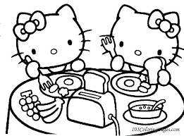 Hello Kitty Colring Sheets Happy Birthday Hello Kitty Coloring Pages Imscott Co