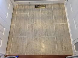 Vinyl Bathroom Floors 12 In X 24 In Coastal Grey Resilient Vinyl Tile Flooring 30 Sq