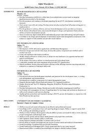 Informatica Sample Resumes Informatica Developer Resume Samples Velvet Jobs 14