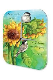 Wanduhr Sprüche Sonnenblume Vögel Liebe Acryl Wand Deko Uhr Retro