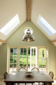 Vaulted ceilings, Farrow and Ball cooking apple green. Designed by Absolute  Architecture http: