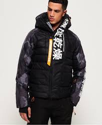 Superdry Windcheater Size Chart Mens Japan Edition Snow Down Jacket In Black Camo Superdry