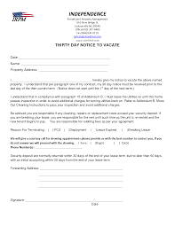Letters Of Notice To Landlords Ideal Vistalist Co Sample Letter