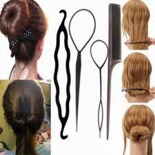 Women rubber bands <b>4pcs</b> twist styling clip stick bun donut maker ...
