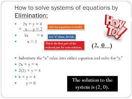 how to solve systems of equations by elimination