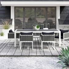 ian 7 piece dining set with cushions