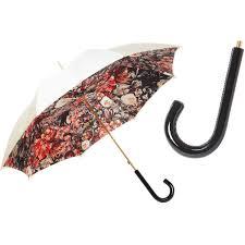 Ladies Designer Umbrella Pasotti White Designer Flowered Womens Umbrella