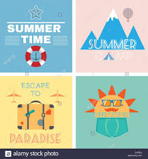 summer paradise camping resort campaign flyers mountains sea stock vector summer paradise camping resort campaign flyers mountains sea recreation digital background vector illustration