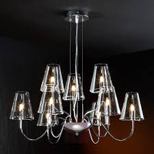 9 bulb chandelier silva with glass lampshades 8582277 01