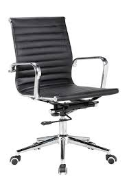 eames reproduction office chair. Ribbed Mid Back Chair In BLACK PU Leather - Reseller Eames Reproduction Office I