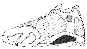 jordan 14 shoes coloring pages