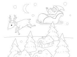 Kerstman In Arreslee Kleurplaat Kleurplaten Printen Op Minipretnl