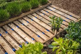 wooden garden path designs