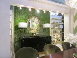architecture interior design trends autumn green wall paint tracking lamps black real wood sideboard stroage