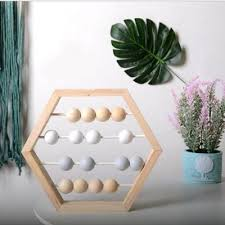 natural wood abacus beads crafts baby