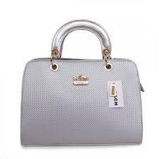 Coach Fashion Signature Medium Silver Satchels BSH