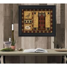 primitive shadowbox by carrie knoff printed framed wall art car101 405 the home depot on primitive framed wall art with 14 in x 18 in primitive shadowbox by carrie knoff printed