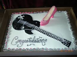 black fondant sheets rock n roll bridal shower the sheet cake was done in buttercream